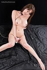 Seated Nude Masturbating With Magic Wan