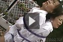 Busty Aki Tomozaki and Mayumi Kusunoki tied up and drenched