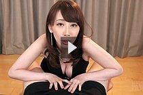 Busty Kisaki Aya Giving Handjob In Black Dress