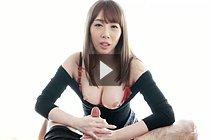 Busty Kisaki Aya Showing Cleavage And Giving Handjob Topless