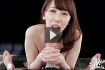 Busty Kisaki Aya Giving Handjob With Cum Running Down Face